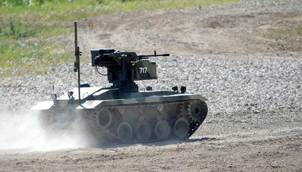 La Platfoma-M es un robot de combate multifuncional manejado por control remoto que permite llevar operaciones de apoyo de fuego en los lugares más peligrosos sin arriesgar vidas humanas