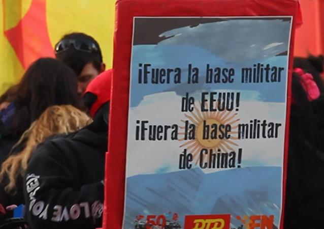 ¡No a la base de los yanquis! argentinos se rebelan contra una instalación militar de EEUU