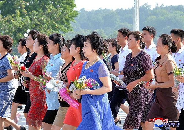 Los ciudadanos coreanos (archivo)
