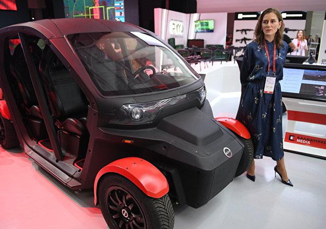 El coche eléctrico UV-4 de uso civil del consorcio ruso Kalashnikov
