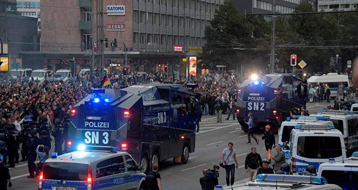 Manifestación de protesta en Chemnitz, Alemania, 27 de agosto de 2018