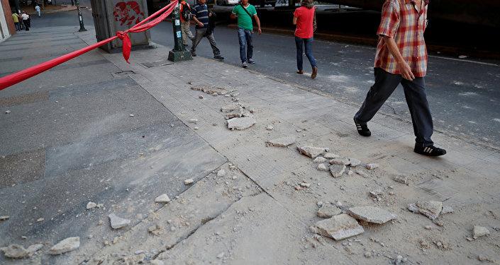 Consecuencias del sismo en Caracas