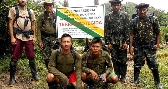 Los miembros de la expedición de Funai