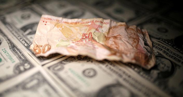 Lira turca y dólares estadounidenses