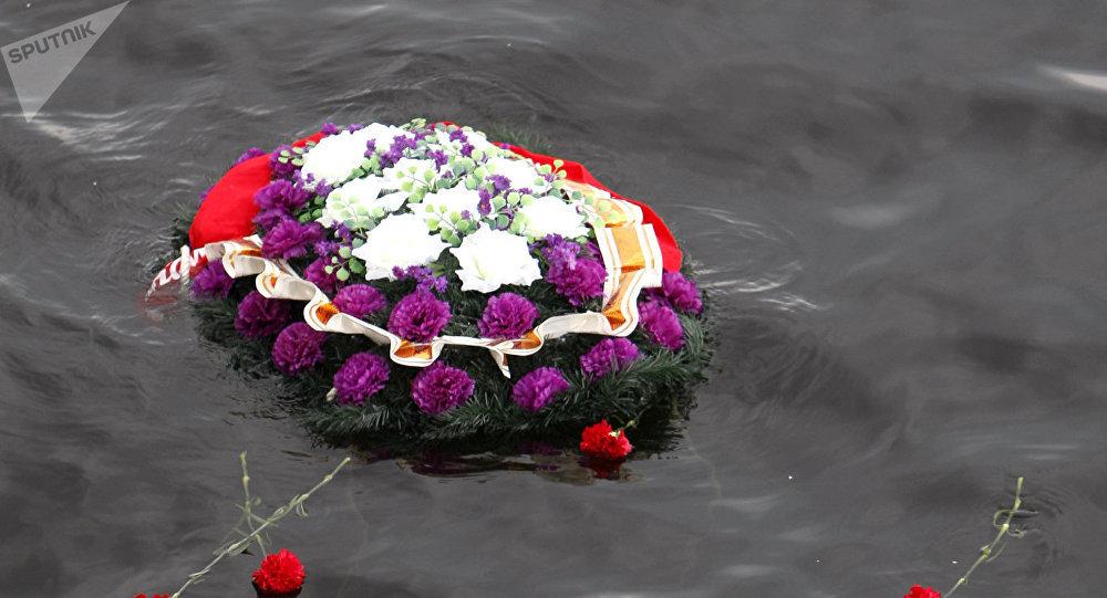 Flores en mar