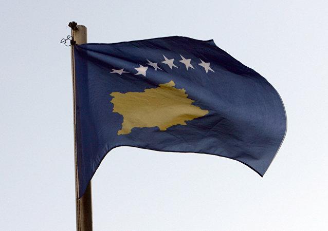 La bandera de Kosovo (imagen referencial)
