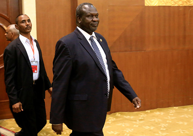 Riek Machar, líder rebelde de Sudán del Sur