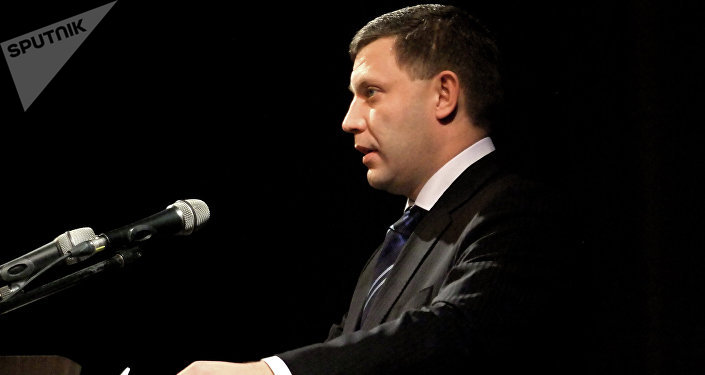 Alexandr Zajárchenko, líder de la autoprocalamada república popular de Donetsk
