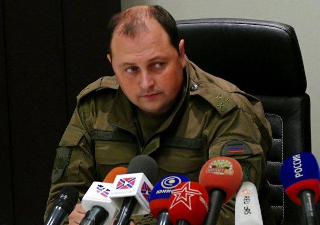 Dmitri Trapéznikov, líder interino de la autoproclamada República Popular de Donetsk (RPD)