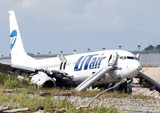 Aterrizaje de emergencia de un avión de la compañía aérea Utair en Sochi