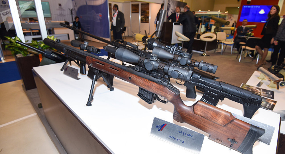 Midelo de fusil francotirador MTs-116M (archivo)