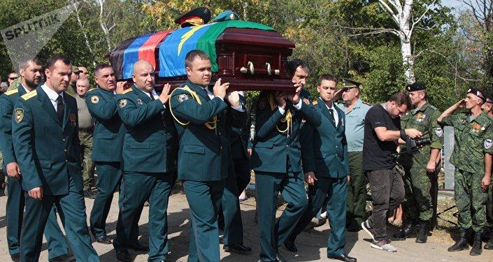 El funeral del líder de la república de Donetsk, Alexandr Zajárchenko