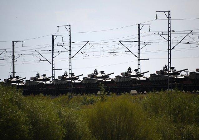 Preparativos para las maniobras militares Vostok 2018