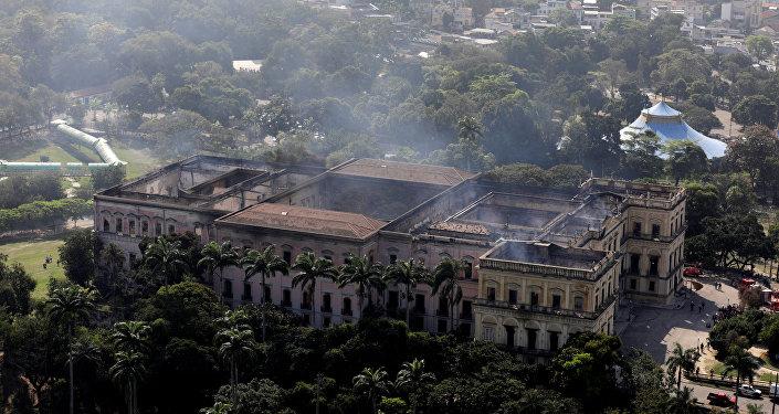 El Museo Nacional tras el incendio