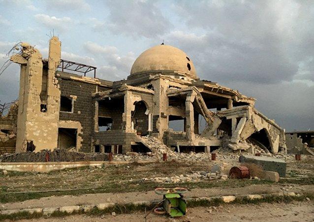 Edificio destruido en Siria