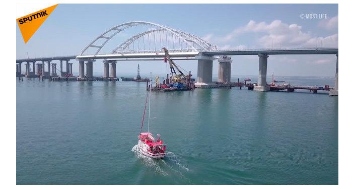 El puente de Crimea tiene un nuevo récord de tráfico