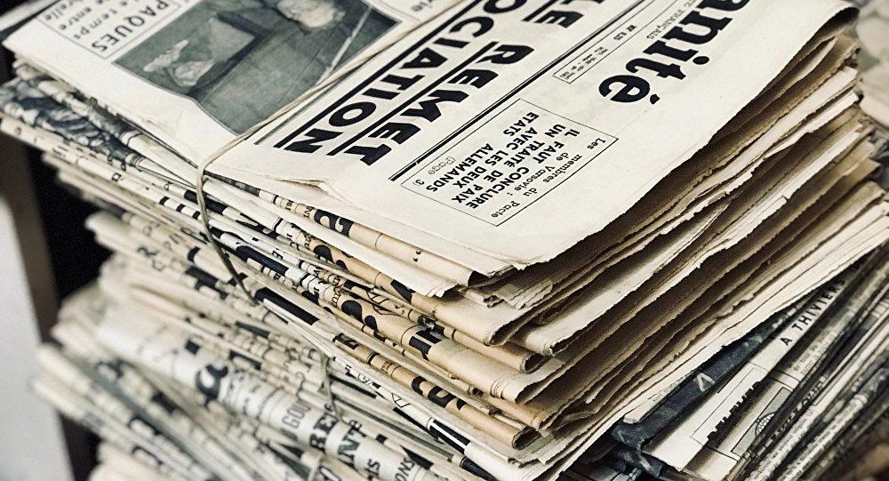 Periódicos franceses (imagen referencial)