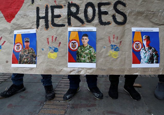 Las fotografías de tres soldados capturados, Colombia