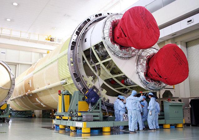 El cohete H-2B en Japón
