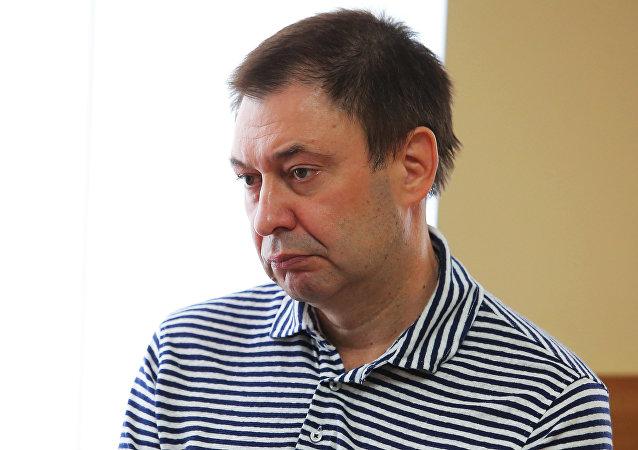 Kiril Vishinski, director del portal RIA Novosti Ukraina, en el tribunal de Jersón (Ucrania)