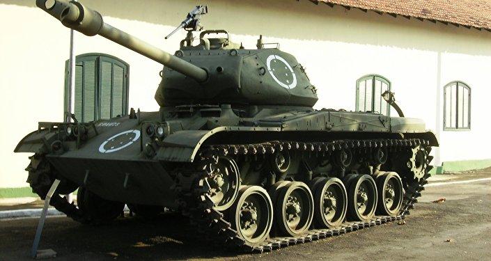 Un tanque M41, expuesto en un museo brasileño (archivo)