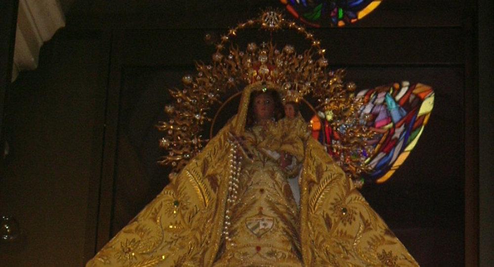 La Virgen de la Caridad del Cobre, en el Santuario de El Cobre. Patrona de Cuba.