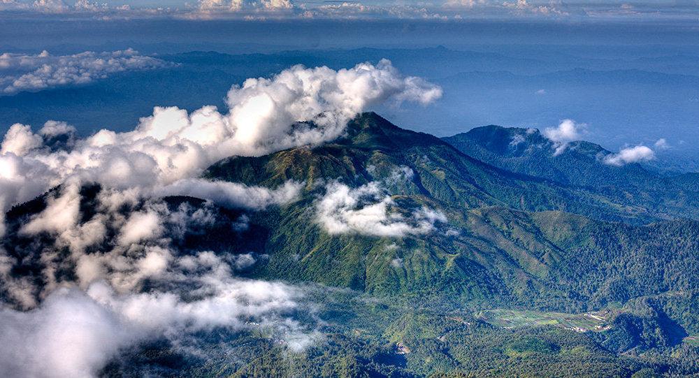 El volcán Lawu en Indonesia