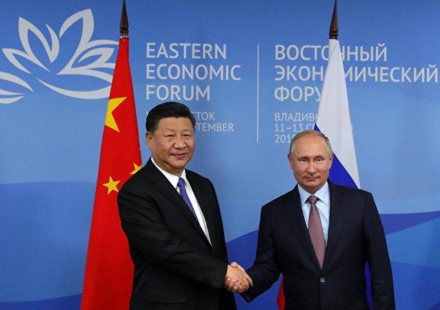 El presidente de China, Xi Jinping, y presidente de Rusia, Vladímir Putin