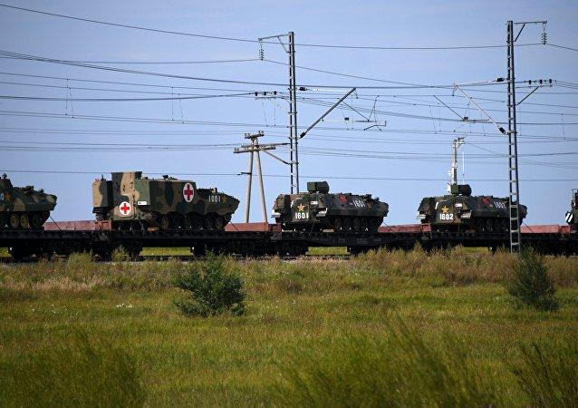 Preparaciones para las maniobras militares Vostok 2018