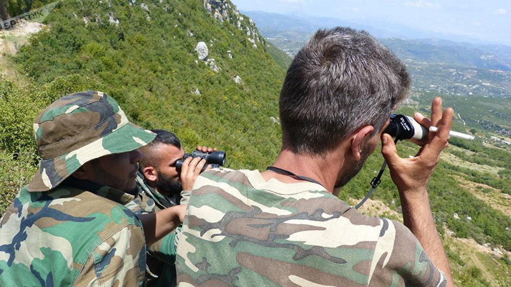 Militares sirios en Latakia