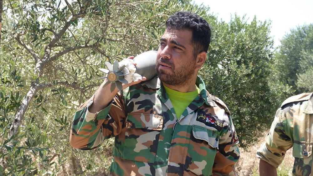 Un efectivo de las fuerzas gubernamentales sirias