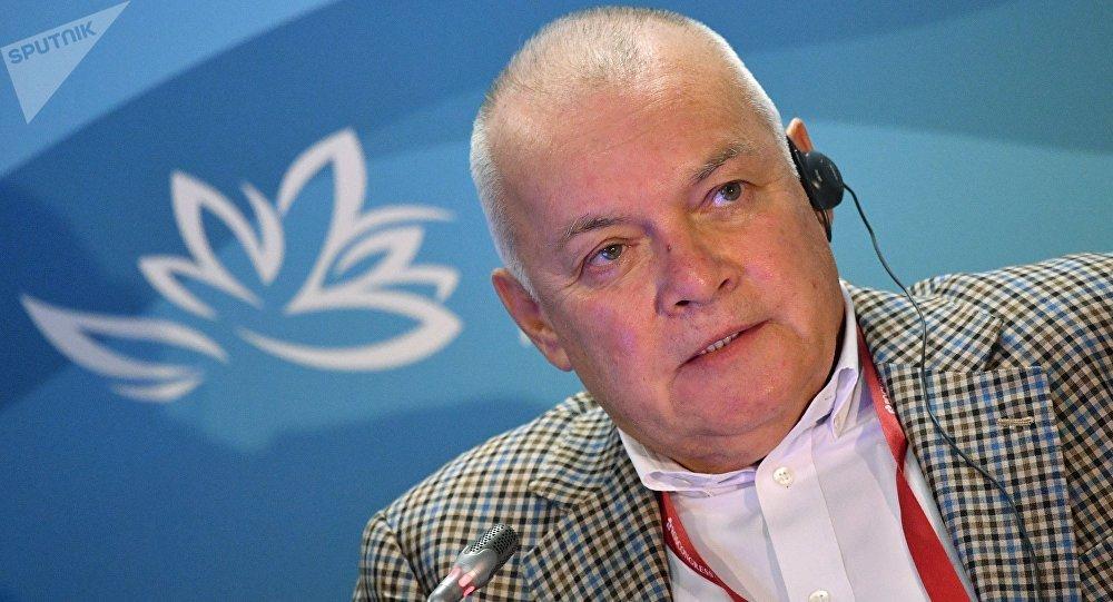 Dmitri Kiseliov, director general del grupo mediático Rossiya Segodnya