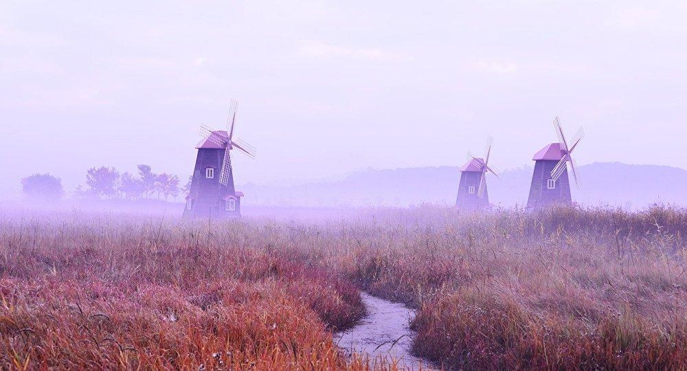 Unos molinos de viento (imagen referencial)