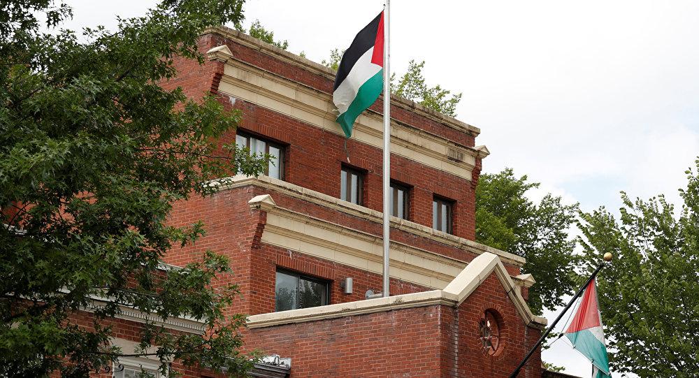 La sede de la representación de la OLP en Washington, EEUU