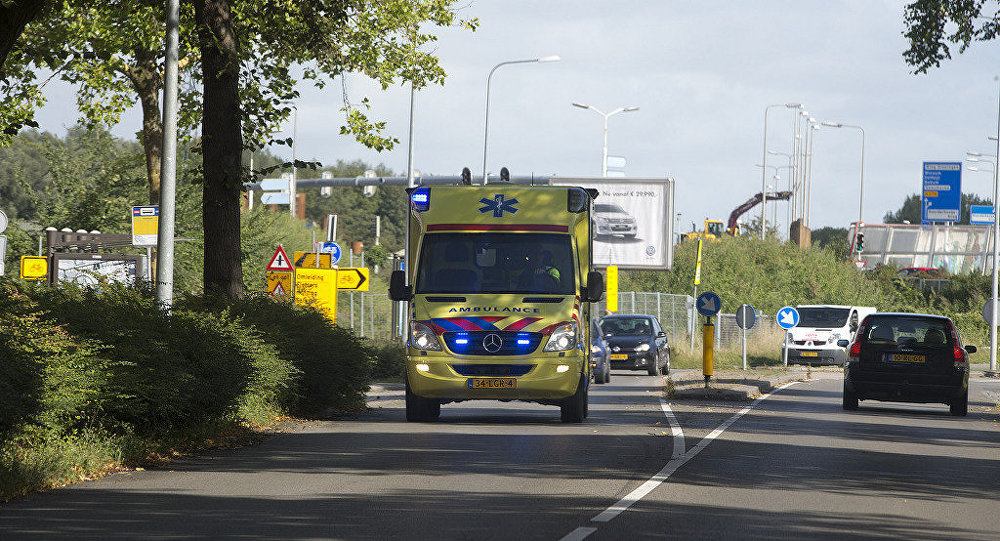 Una ambulancia de Países Bajos