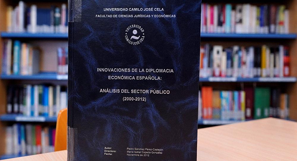 La tesis doctoral del presidente del Gobierno español Pedro Sánchez