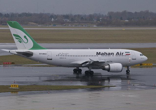Un avión de Mahan Air (imagen referencial)