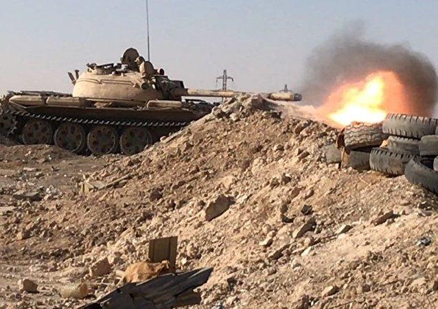 La ofensiva del Ejército sirio (archivo)