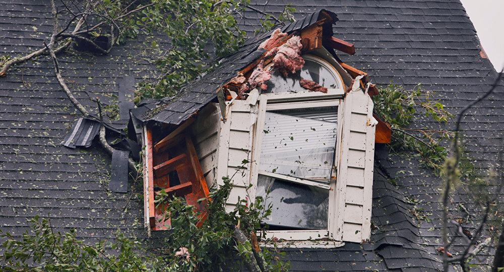 La casa dañada por el huracán Florence