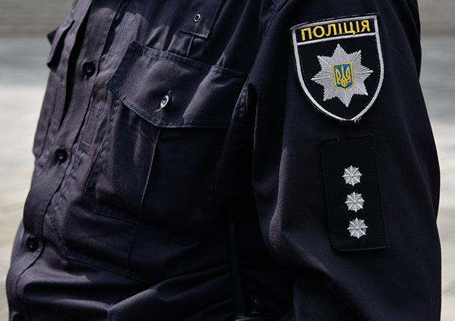 Un miembro de la Policía Nacional de Ucrania, en Kiev (archivo)