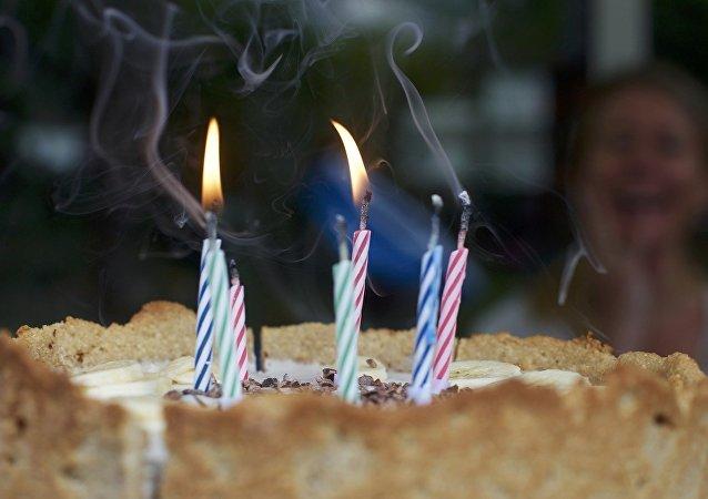 Una tarta de cumpleaños