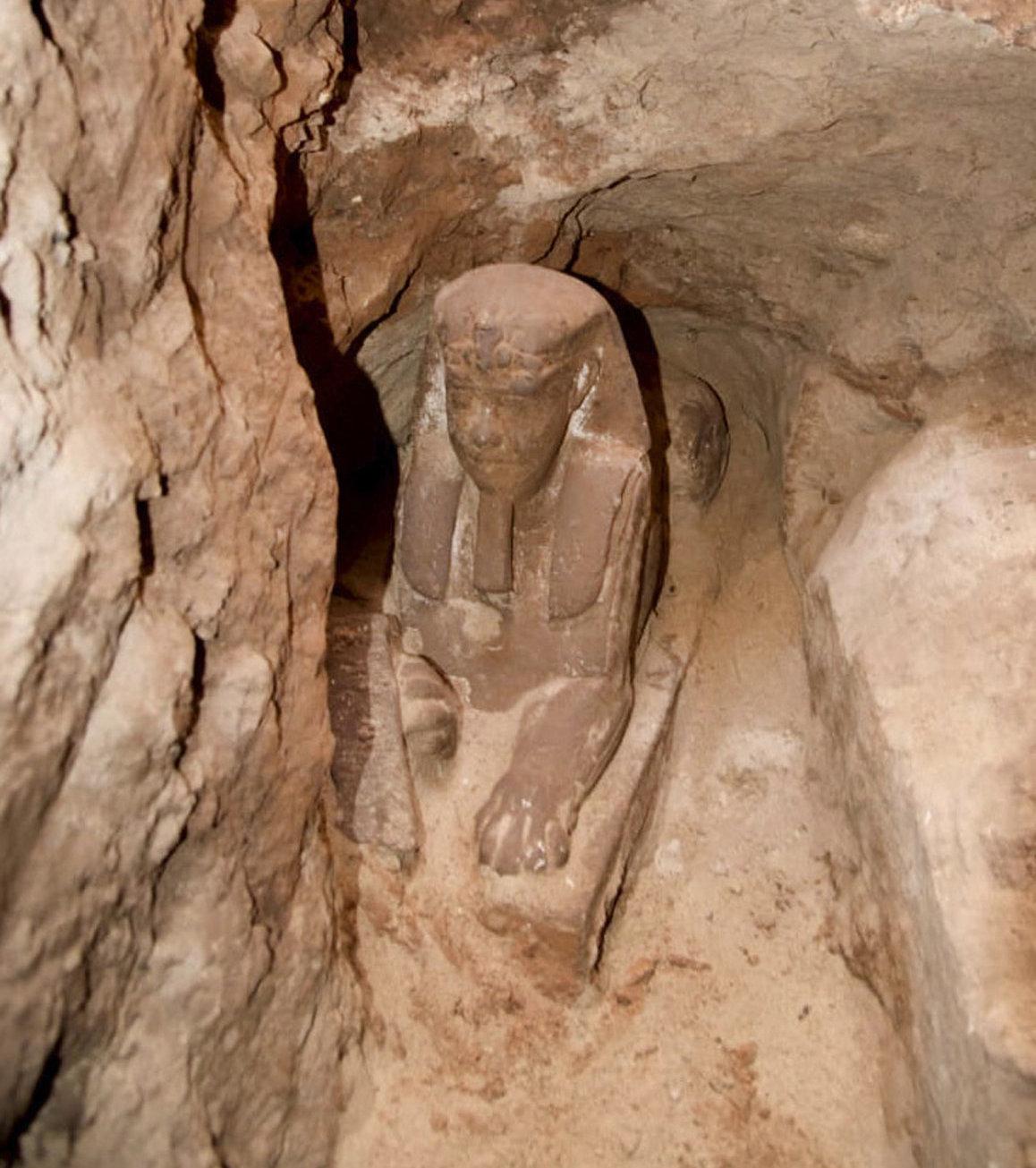 La esfinge hallada en el templo de Kom Ombo en el sur de Egipto