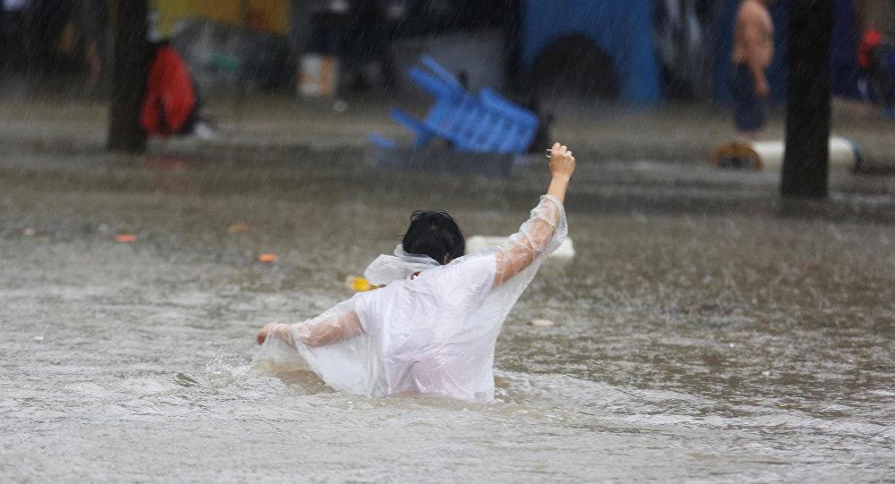 El tifón Mangkhut en China
