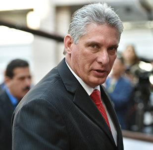 Miguel Mario Díaz Canel, primer vicepresidente de los Consejos de Estado y Ministros de la República de Cuba