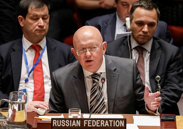 Vasili Nebenzia, embajador ruso ante la ONU
