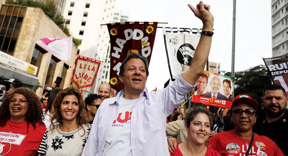 Fernando Haddad, candidato presidencial brasileño