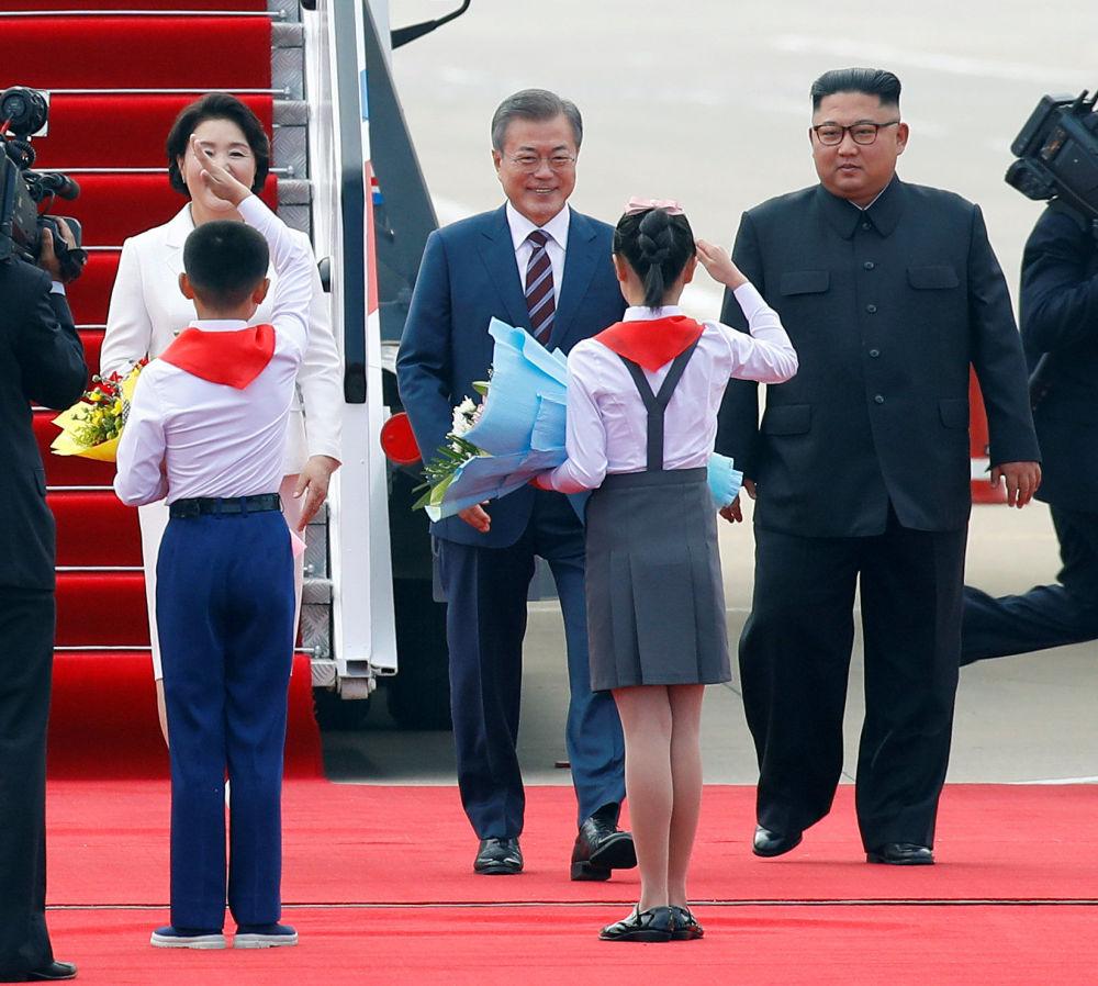 La histórica visita del presidente de Corea del Sur a Pyongyang