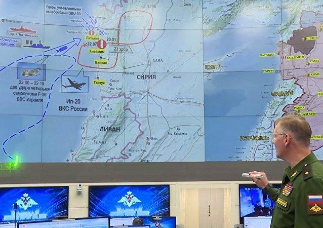 Ígor Konashénkov, durante la declaración oficial sobre el accidente del avión Il-20 en Siria