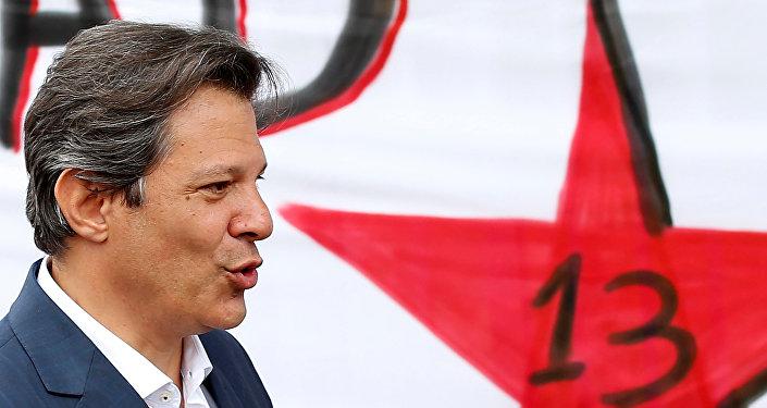 Fernando Haddad, exalcalde de Sao Paulo y candidato a la presidencia de Brasil por el PT