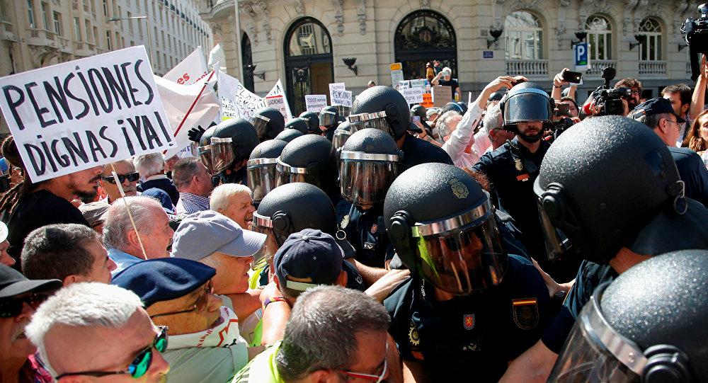 Protestas de los pensionistas en España